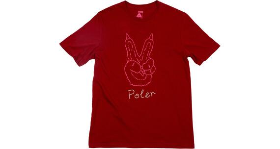 POLER Peace Paw Tee Men Merlot